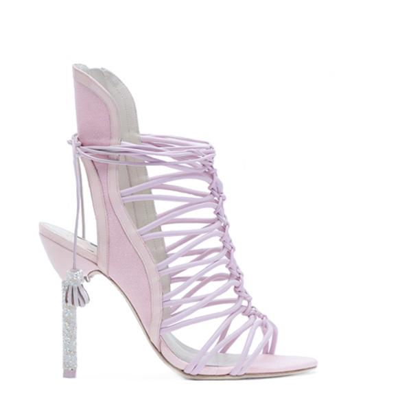 Sophia Webster Bridal Lacey Heaveny Pink Sandal -1